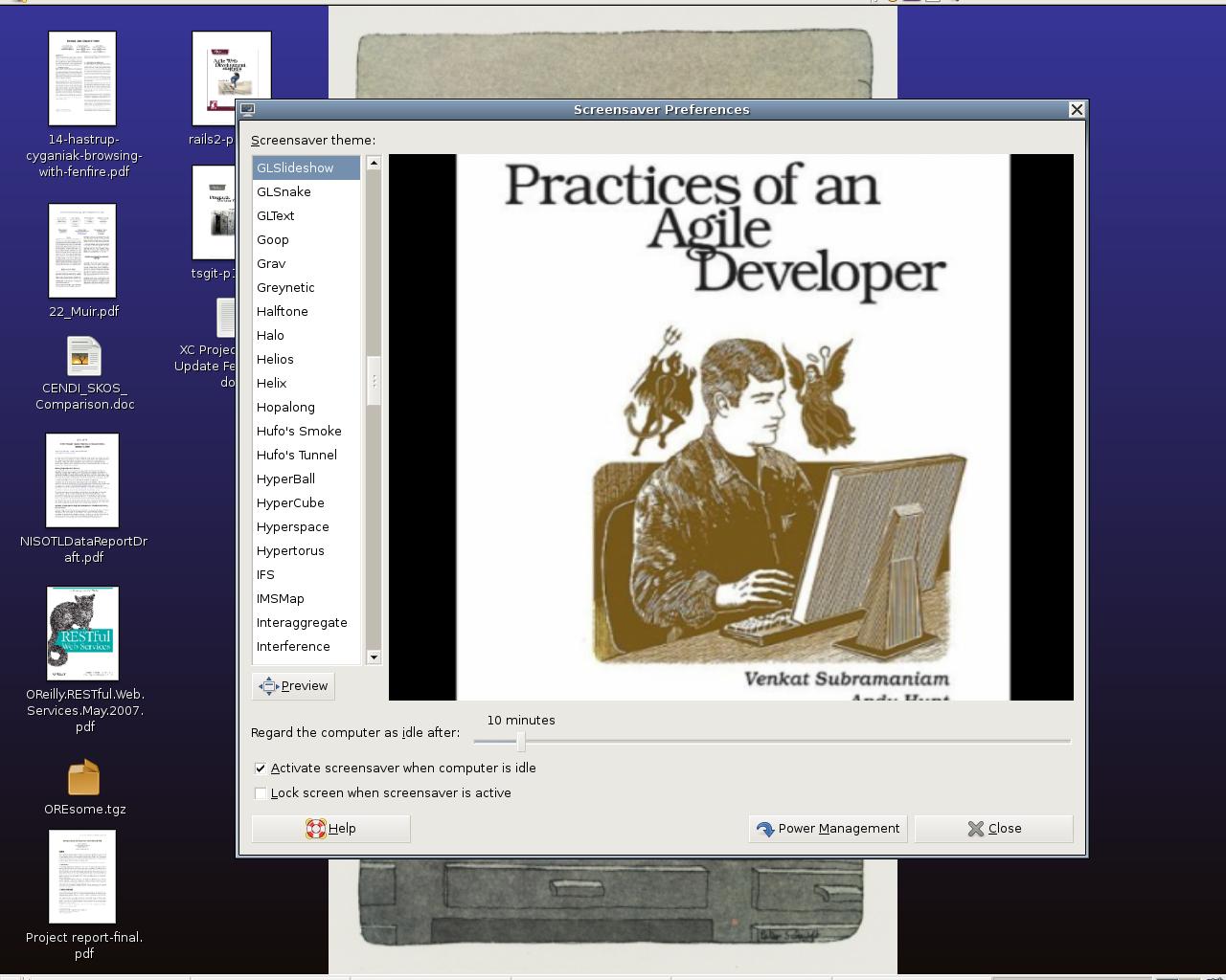 LibraryThing Ubuntu Screen Saver